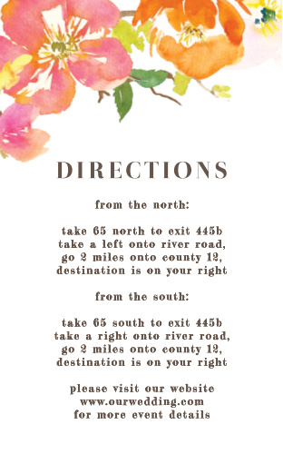 Colorful Garden Direction Cards