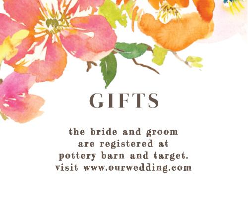 Colorful Garden Registry Cards