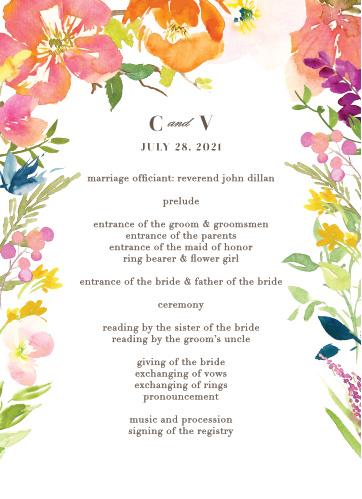 Colorful Garden Wedding Programs