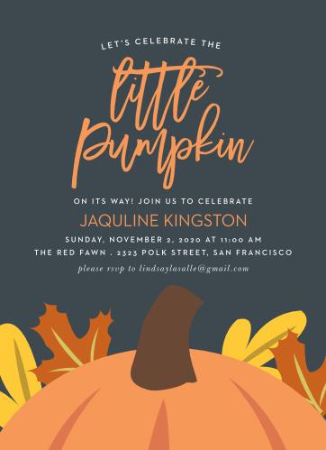 Little Pumpkin Baby Shower Invitations By Basic Invite
