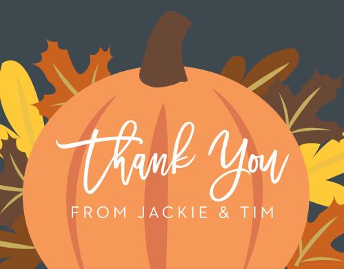 Little Pumpkin Baby Shower Thank You Cards
