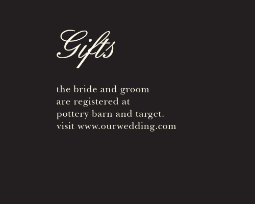 Romantic Flowers Registry Cards