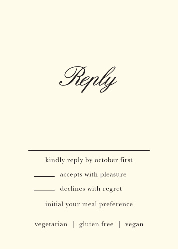 Romantic Flowers Response Cards