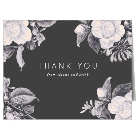 Vintage Mood Wedding Thank You Cards