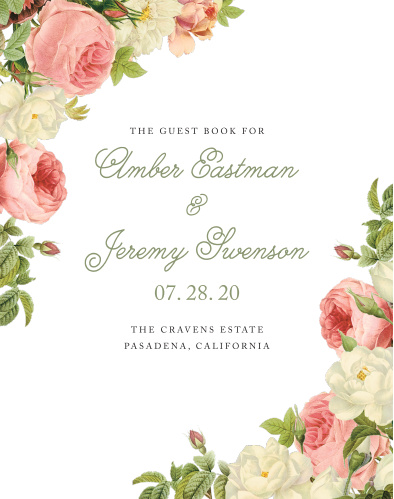 Alluring Florals Guest Book
