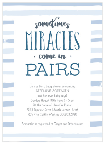 photo relating to Free Printable Twin Baby Shower Invitations named Little one Shower Invites for Twins Very simple Invite