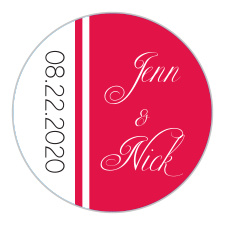 30531c3341c1 Personalized Wedding Stickers   Wedding Favors Stickers by Basic Invite