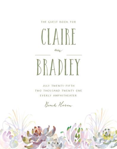 Succulent Wreath Guest Book