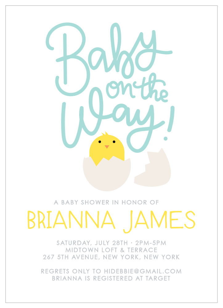 Baby Shower Invitation Ensemble **CUSTOM ORDER**