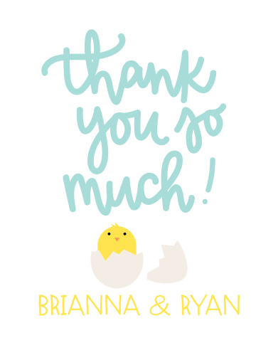 Ready to Hatch Baby Shower Thank You Cards