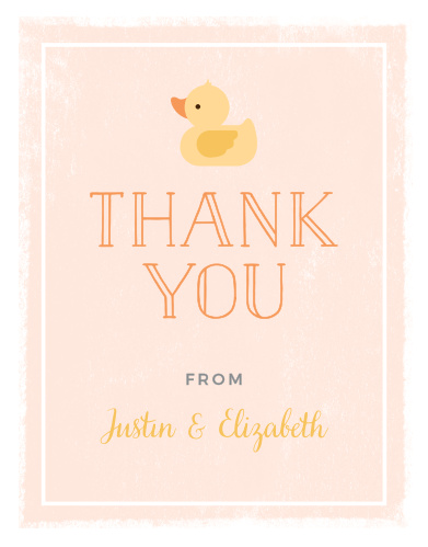 Little Duck Baby Shower Thank You Cards