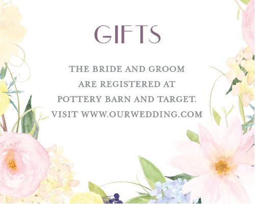 Spring Watercolors Registry Cards