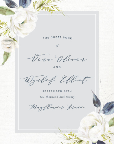 Oil Paint Textured Guest Book