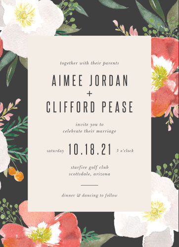 rose wedding invitations match your color style free
