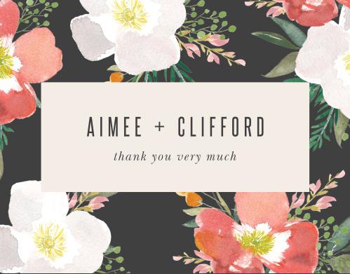 Spring Rose Wedding Thank You Cards
