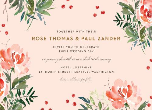 Winter Berries Wedding Invitations