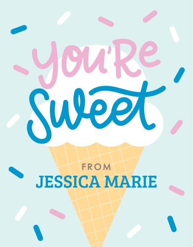 Sweet Sprinkles Baby Shower Thank You Cards