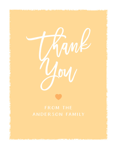 Painted Edges Baby Shower Thank You Cards