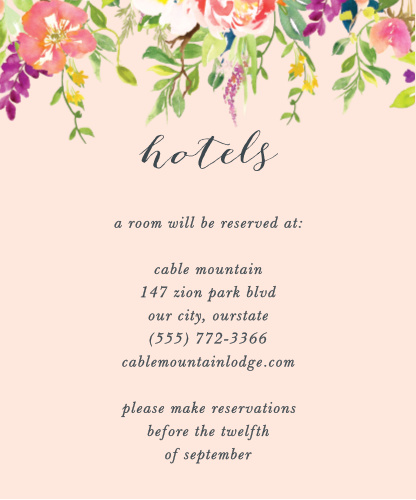 Spring Peach Accommodation Cards
