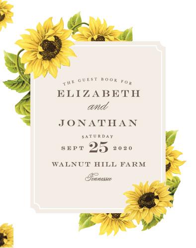 Sunflower Frame Guest Book