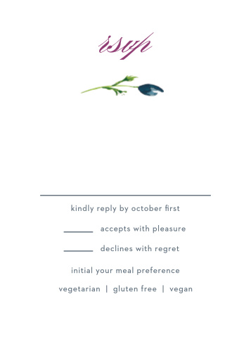 Lavender Blooms Response Cards