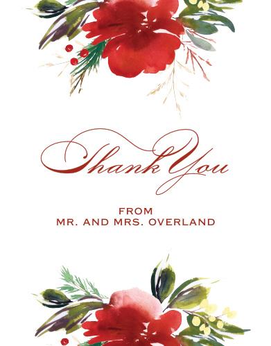 Christmas Pine Wedding Thank You Cards