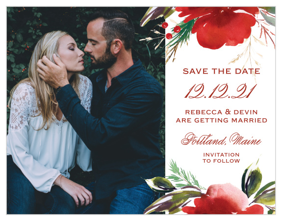 Christmas Save The Date Cards.Holiday Save The Date Cards Match Your Color Style Free