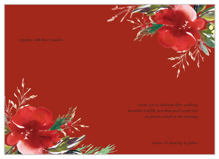 Christmas Wedding Invitations.Christmas Wedding Invitations Match Your Color Style Free