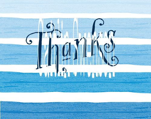 Beach Waves Baby Shower Thank You Cards