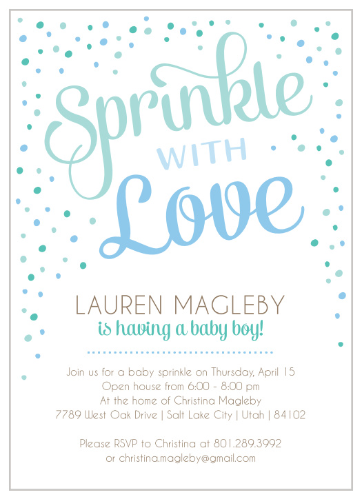 picture about Free Printable Baby Sprinkle Invitations referred to as Sprinkle Little one Shower Invites - Game Your Coloration Style and design