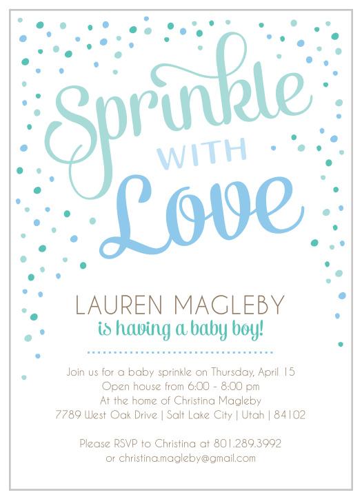 Sprinkle Baby Shower Invitations