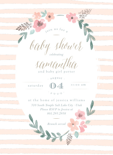 Baby Shower Invitations For Girls Basic Invite
