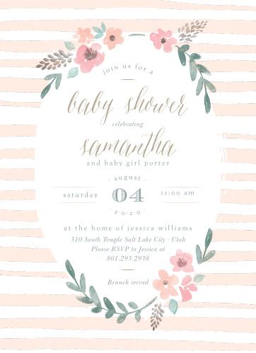 Baby Shower Invitations For Girls Basic Invite