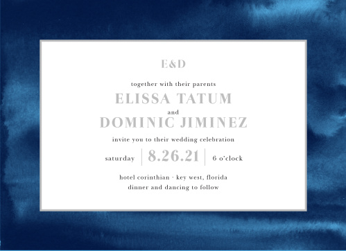 Indigo Watercolor Wedding Invitations