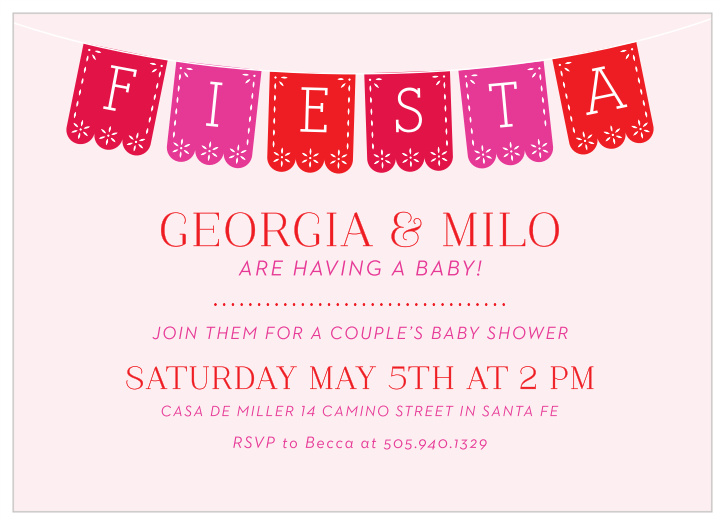 Fiesta Baby Shower Invitations Match Your Color Style Free