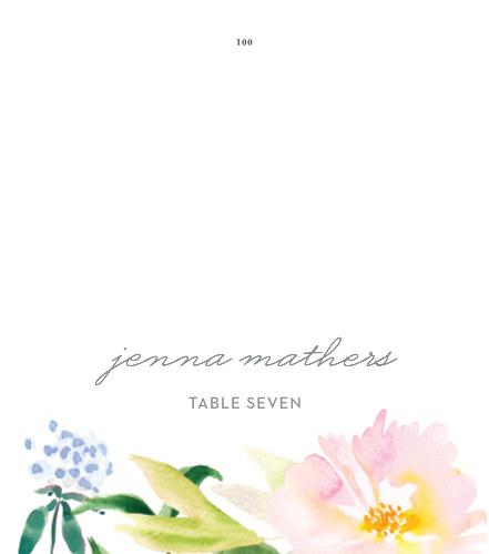 Summer Bouquet Place Cards