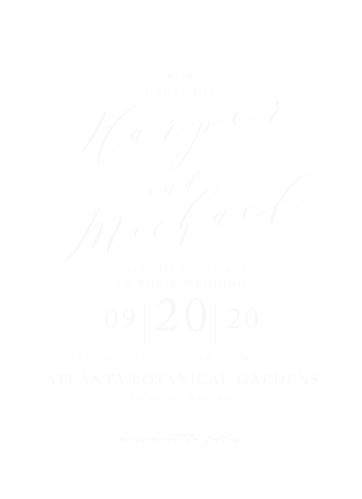 Modern Calligraphy Clear Wedding Invitations