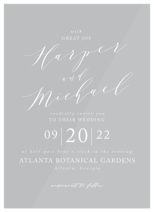 . Modern Wedding Invitations   Match Your Color   Style Free