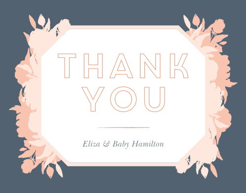 Pink Bouquet Baby Shower Thank You Cards
