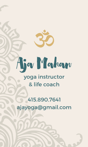 Yoga Business Cards Match Your Color Style Free