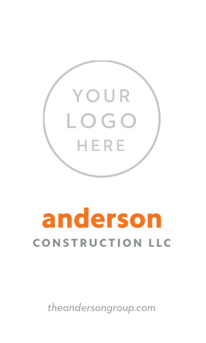 Contractor Business Cards Match Your Color Style Free