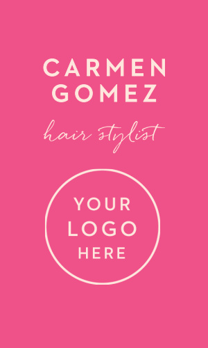 Hair Stylist Business Cards Match Your Color Style Free