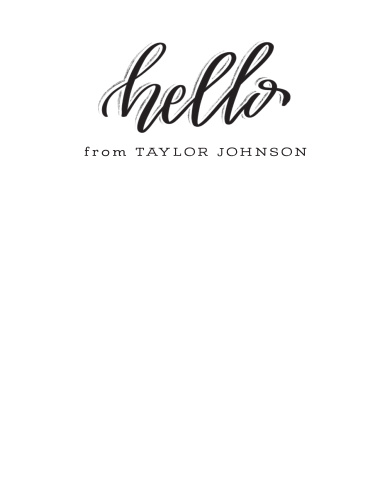Creative Lettering Business Stationery