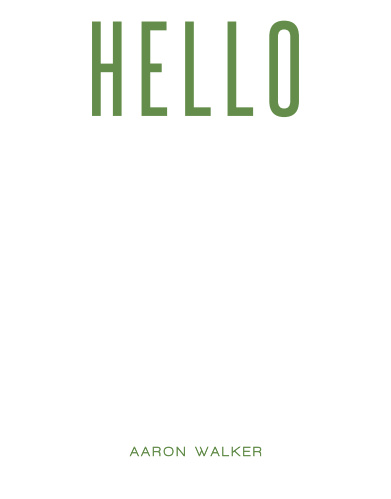 Modern Hello Business Stationery