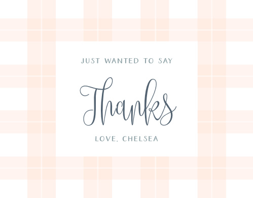 Pretty Plaid Baby Shower Thank You Cards