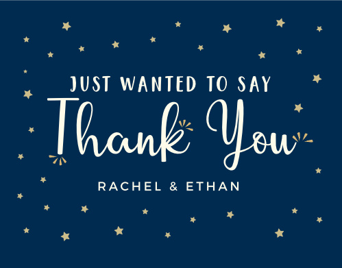 Little Star Baby Shower Thank You Cards