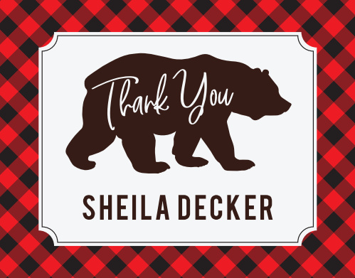 Mama Bear Baby Shower Thank You Cards