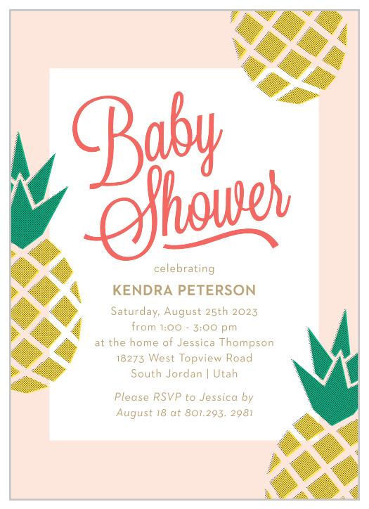 Unique Hawaiian Luau Onesie Baby Shower Invites