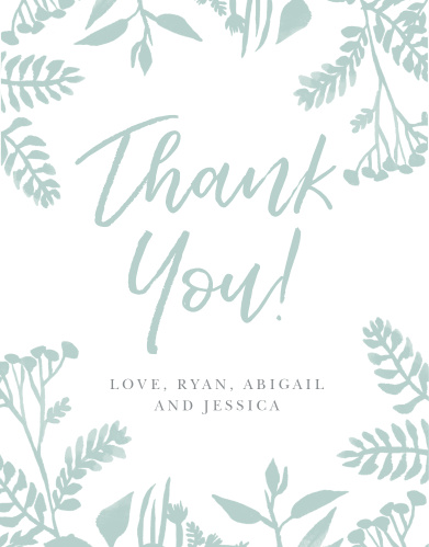 Painted Botanicals Baby Shower Thank You Cards