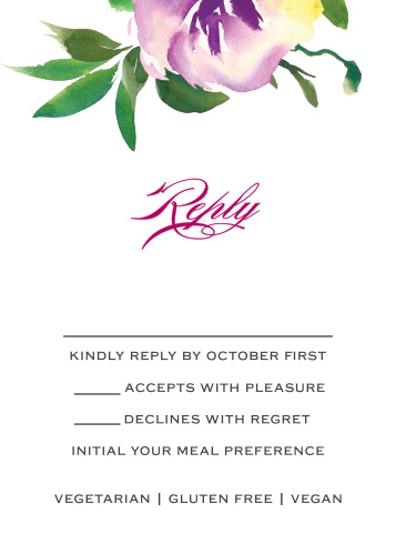 Fresh Cut Flowers Response Cards